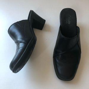 Clarks Mirabelle Oscar Black Leather Mules 7.5